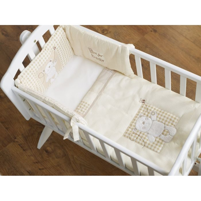 Obaby B is for Bear Crib Set-Cream