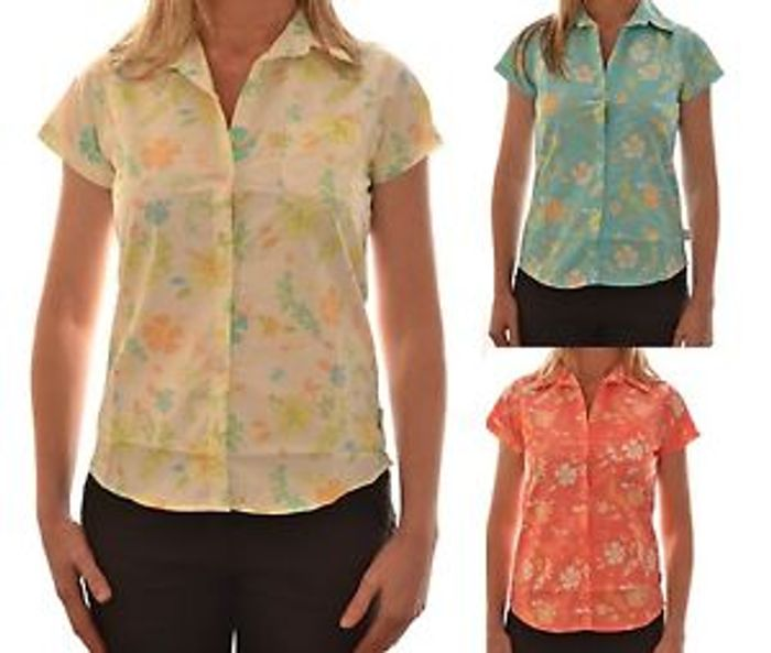 Dare 2 Be Ladies Seirra Short Sleeve Casual Floral Shirt Dws105 Bogof