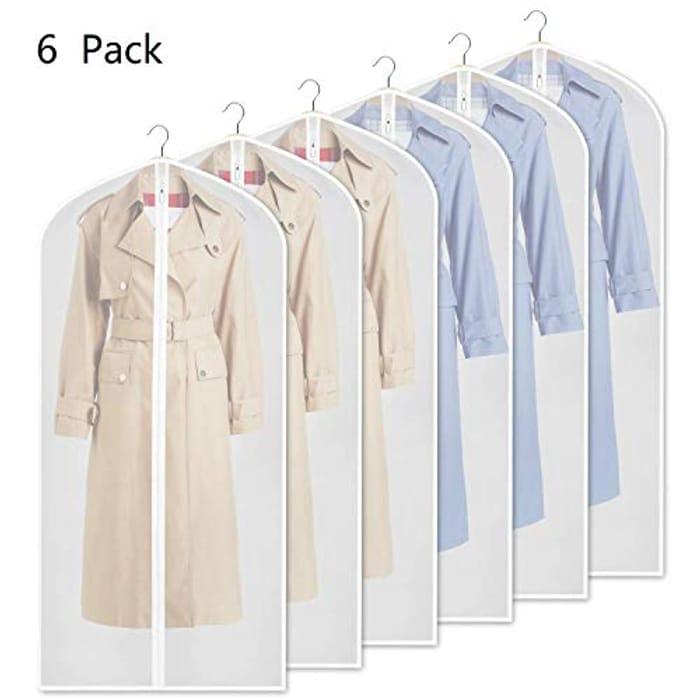 Yibak Garment Covers Bag (6 PCS), 60 Inch Suit Bag