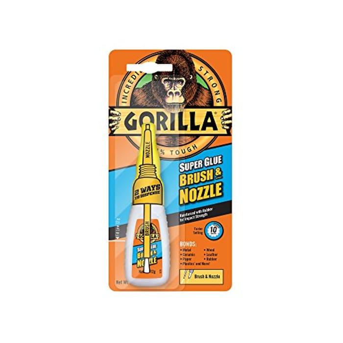 Cheap Gorilla Super Glue Brush & Nozzle, 12 G at Amazon