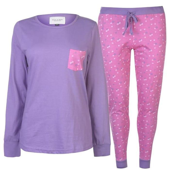 ROCK and RAGS Table Pyjama Set Ladies save £4.99