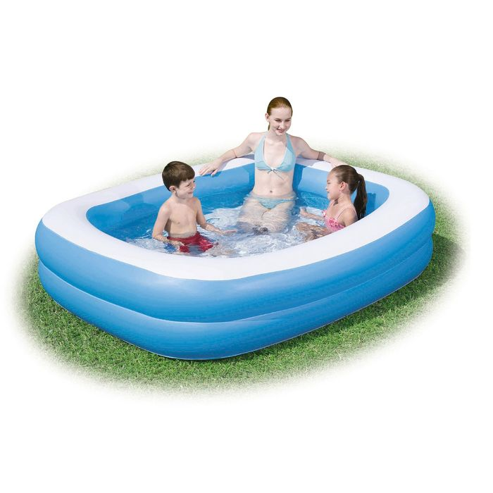Cheap Bestway Blue Rectangular Family 6.5 X 5ft Pool Only £25!