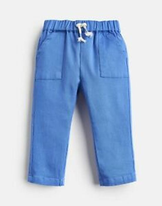 Joules Baby Boy Ethan Lightweight Woven Twill Trousers - BLUE