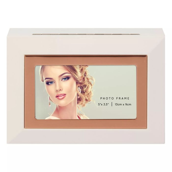 Cheap White MDF Photo Frame Jewellery Box Only £12.99