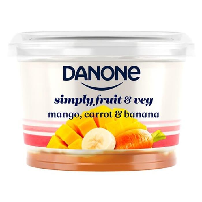 Danone Mango, Carrot & Banana No Added Sugar and other flavoursYogurt 450g