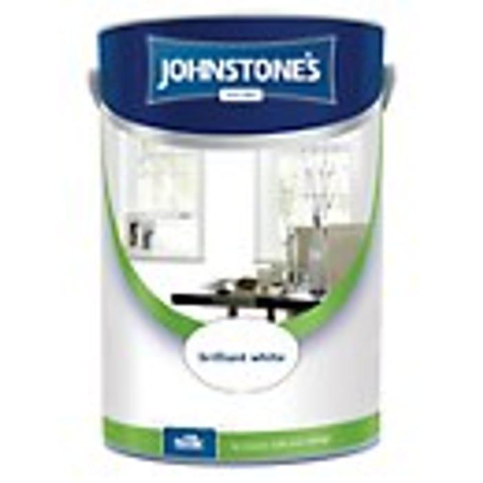 Cheap Johnstone's Brilliant White Matt or Silk Emulsion Paint 5l Only £10