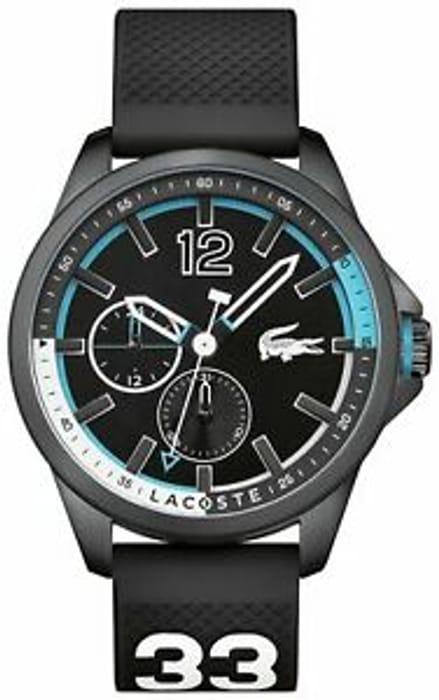 Lacoste Men's Capbreton Black Dial S/Steel Case Chronograph Analogue Watch