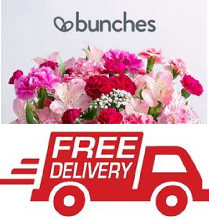 Bunches FLOWERS. from £16. FREE DELIVERY FLOWERS & FREE Message Card