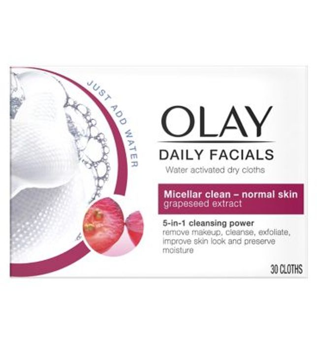 Olay Daily Facials Water Activated Dry Cloths