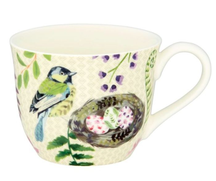 Fine China 'Bird Palace' Mug *HALF PRICE AND STUNNING!