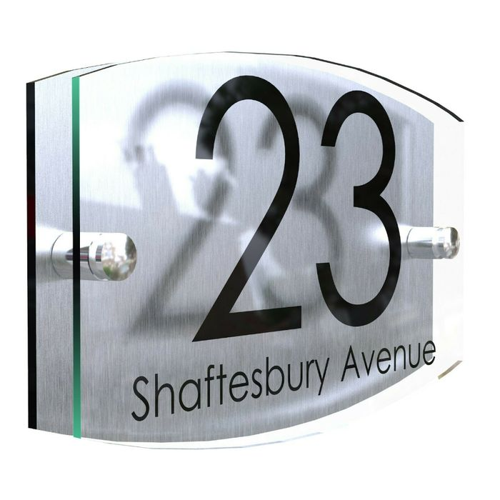 Contemporary House Sign + Free Delivery