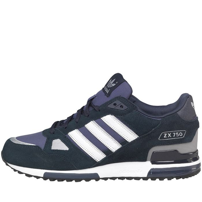 Adidas Originals Mens ZX 750 Cheap Trainers New Navy/White