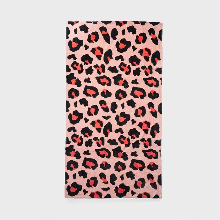 Special Offer - Pink Leopard Print Cotton Beach Towel