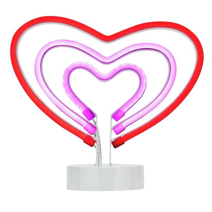 Neon Heart Light Down To £4.00