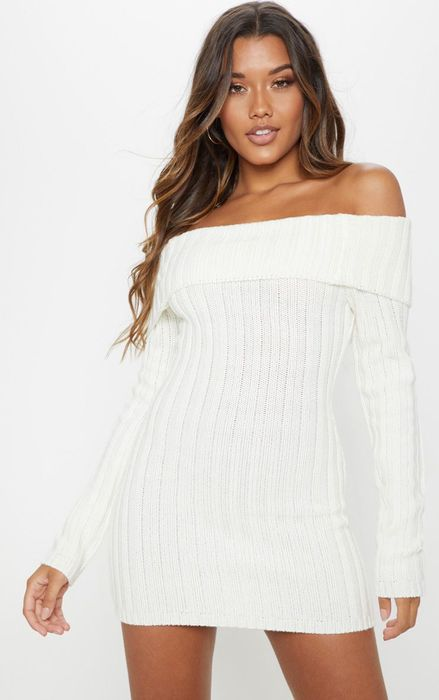 30% off This Cream Knitted Dress
