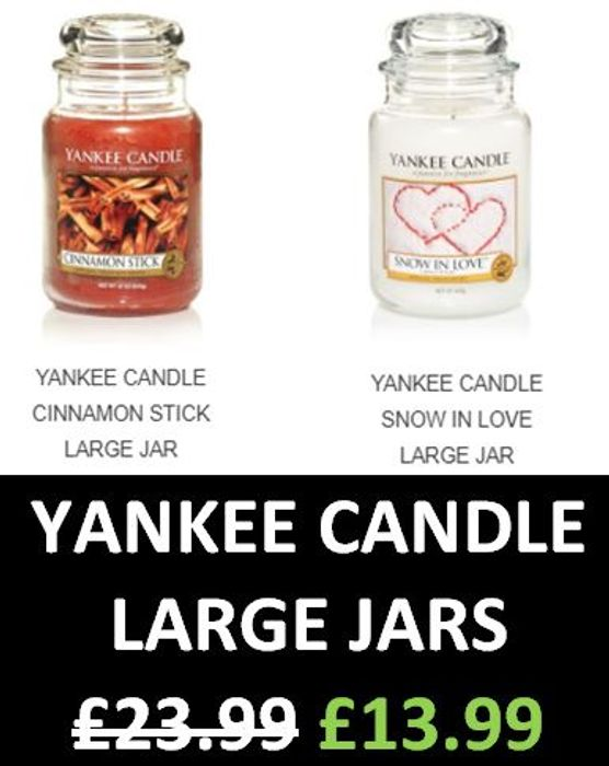 CHEAP! £10 off Yankee Candle Large Jars + EXTRA 15% OFF CODE