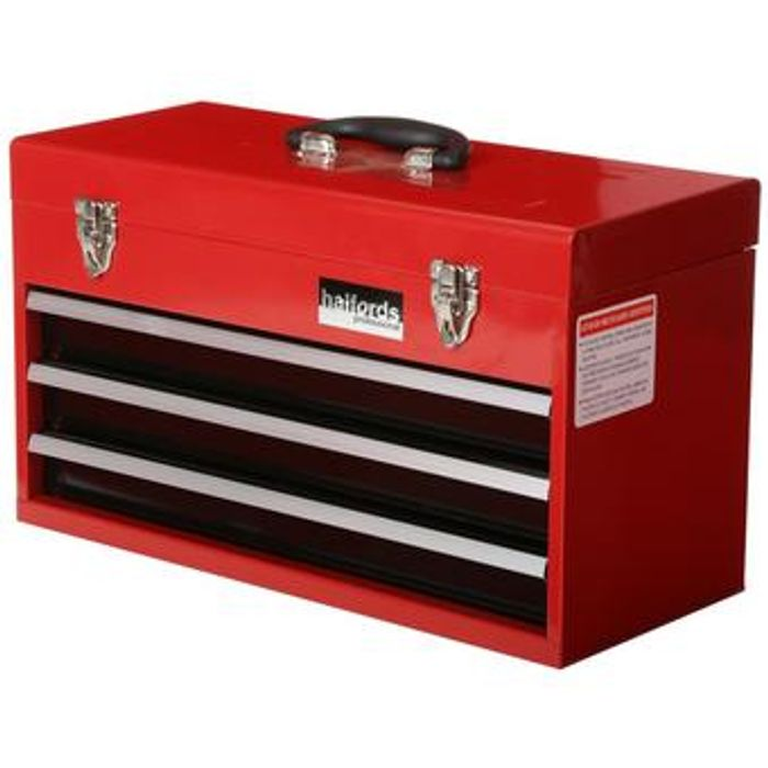 Cheap Halfords 3 Drawer Metal Portable Tool Chest Only £26!
