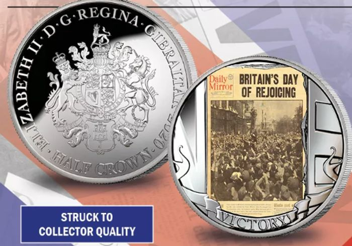 Free VE Day 75th Anniversary Commemorative Silver Coin - Just £2.50 P&P