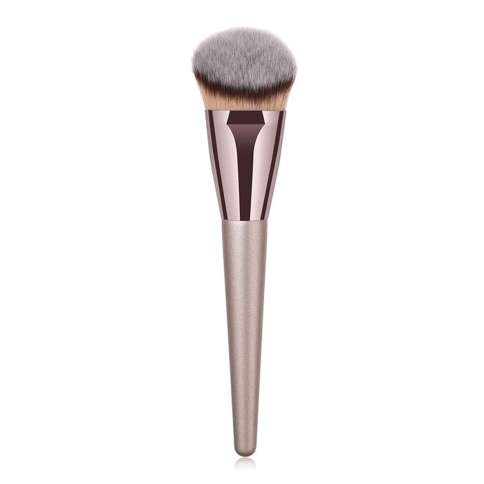 Glowii Angled Champagne Colour Foundation Makeup Brush