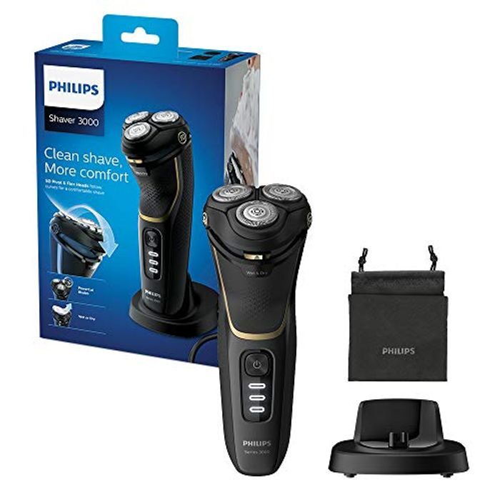 Cheap Philips 3000 Series Wet and Dry Cordless Shaver - Half Price at Amazon