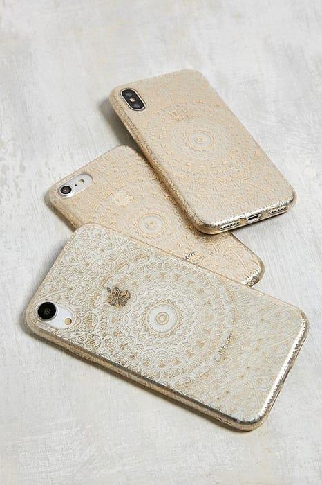 Gold Geo Print iPhone X/XS Case