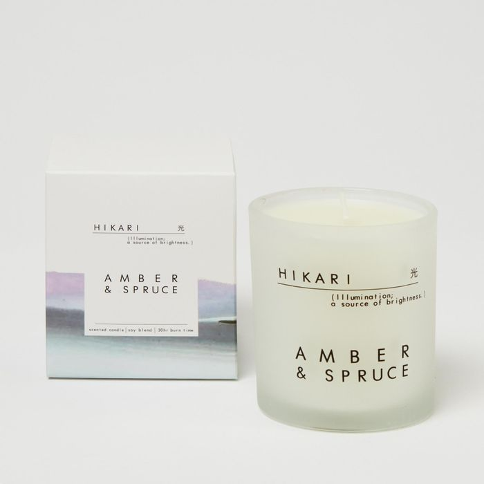 Amber and Spruce Scented Candle