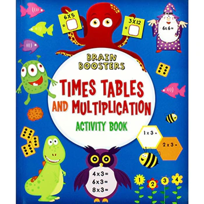 Brain Boosters times Table and Multiplication Activity Book