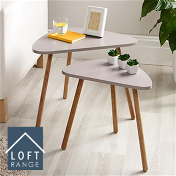 Loft Nesting Tables: Set of Two (Mink or White)