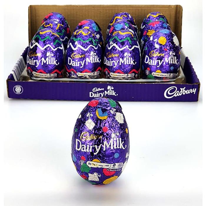 12 X Cadbury Purple Hollow Milk Chocolate 77g Eggs