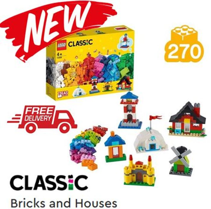 NEW LEGO SET ! LEGO Classic - Bricks & Houses - FREE DELIVERY