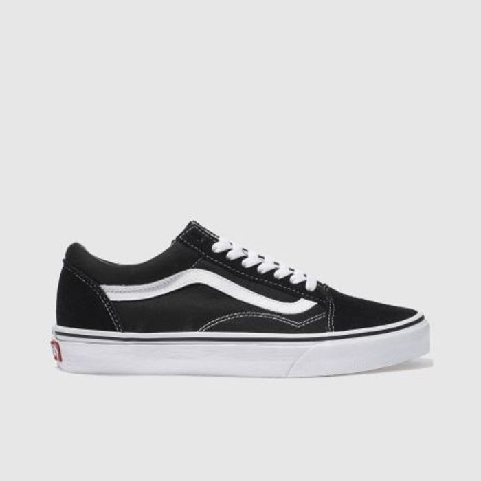 Vans Black and White Old Skool Trainers