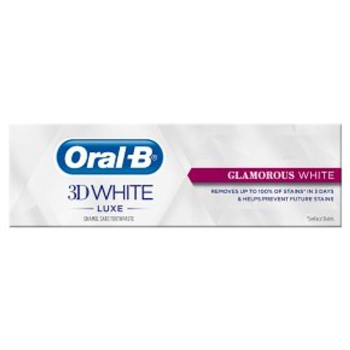 Oral-B 3D White Luxe Glamorous Toothpaste75ml