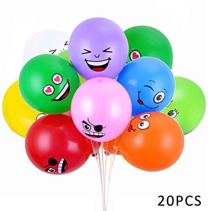 Emoji Party Balloons Latex Balloons 20 Pcs