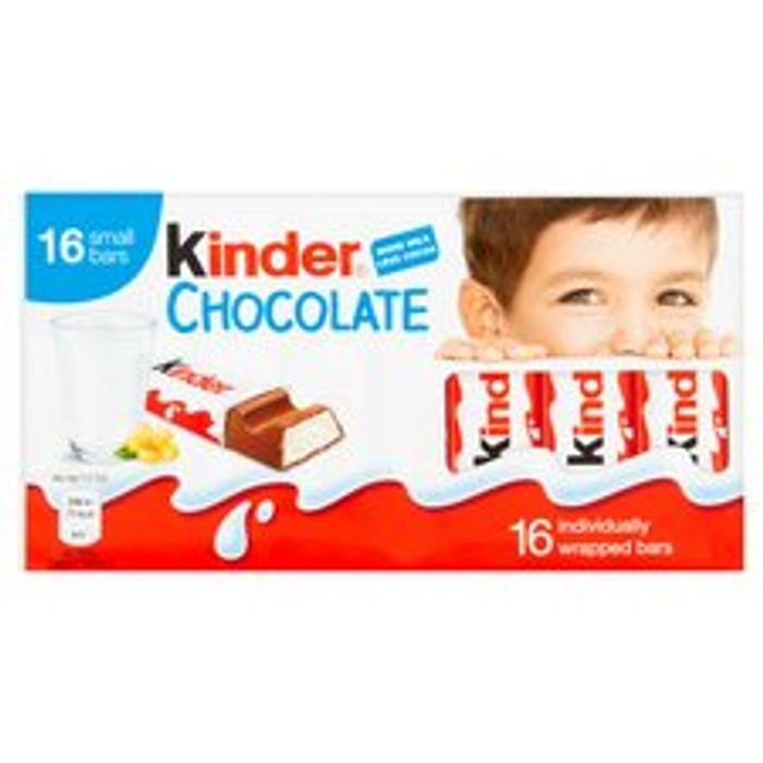 Kinder Chocolate Bar 16 Pack
