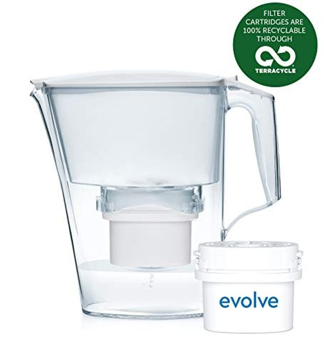 Aqua Optima Liscia Water Jug + 1 30 Day Filter White, 2.5litres