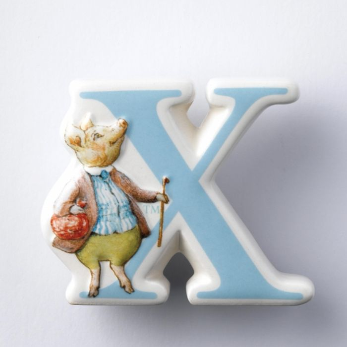 China Letter X Beatrix Potter