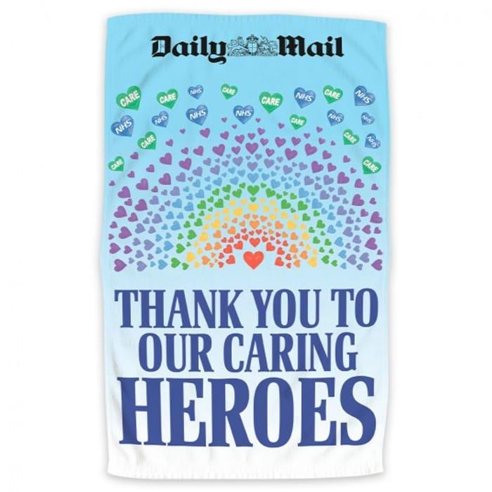 Free NHS Caring Heroes Tea Towel