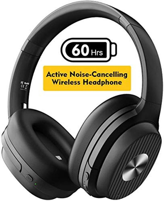 EKSA Active Noise Cancelling Headphones with 60 Hrs Playtime