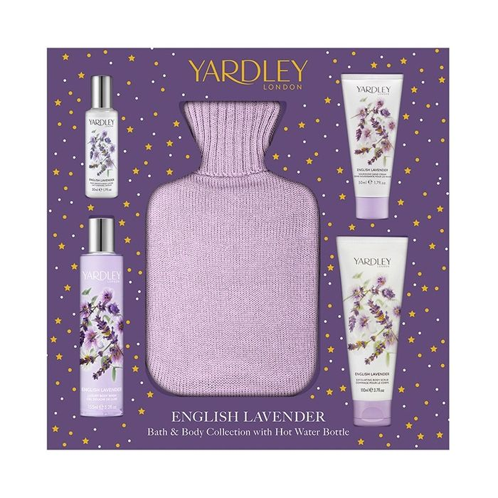 English Lavender Bath and Body Collection with Hot Water Bottle