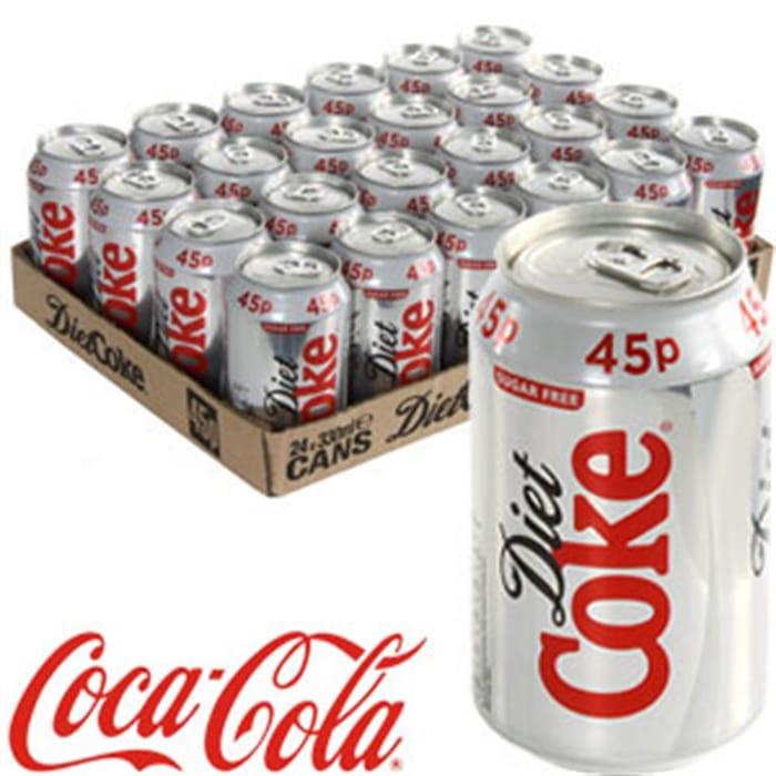 Diet Coke (24 X 330ml Cans)