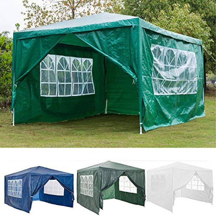 AutoBaBa 3x3m Garden Gazebo Marquee Tent with Side Panels, Fully Waterproof