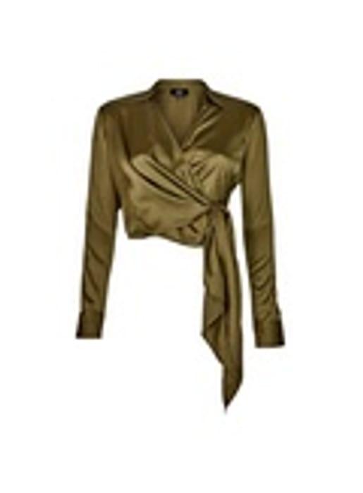 Lola Skye Green Wrap Shirt