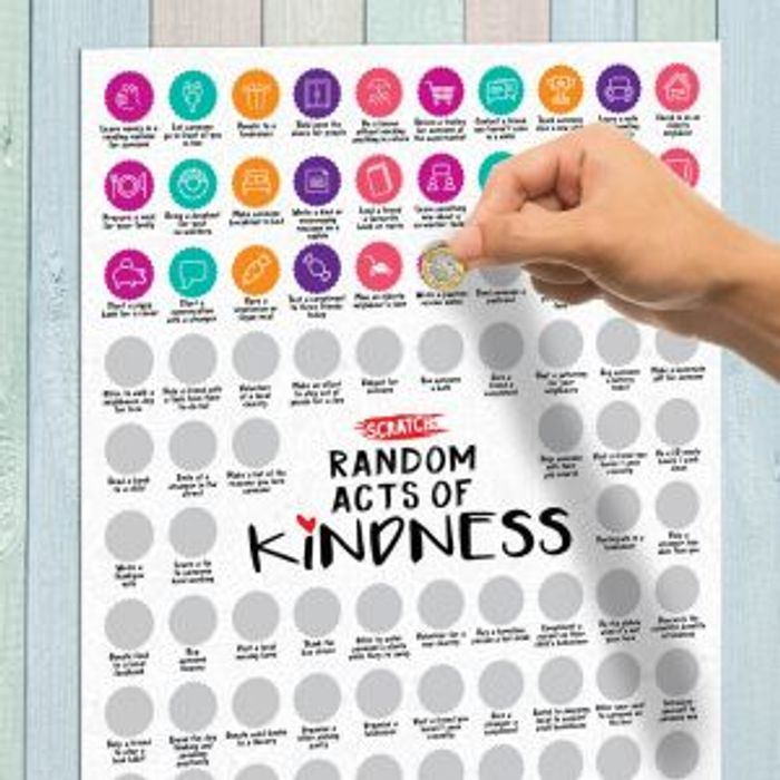 Random Acts of Kindness - Scratch Poster