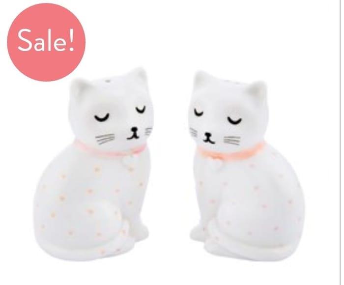 Cutie Cat Salt & Pepper Shaker Set
