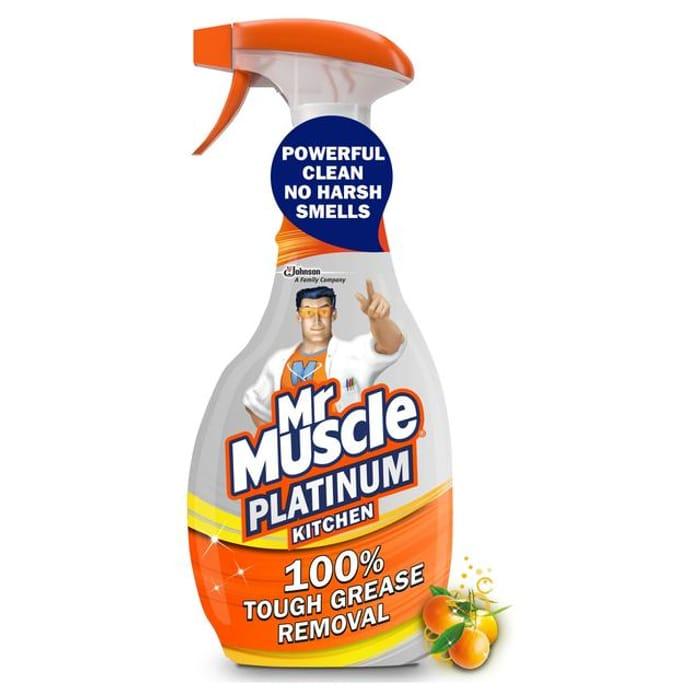 Mr Muscle Platinum Bathroom Spray Mandarin 750ml-(2 for £ 3.50)