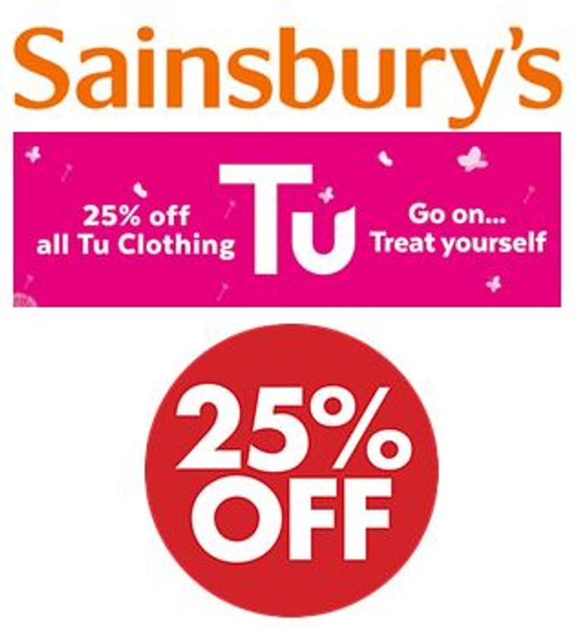 LIVE! 25% OFF ALL Sainsbury's TU Clothing - SALE TIME!