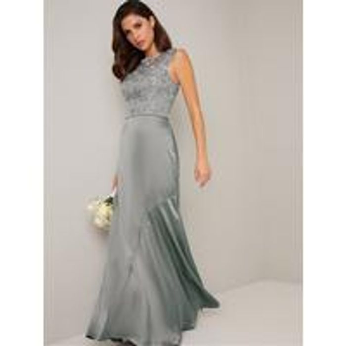 Bridesmaid Dress in SAGE. CHI CHI LONDON.