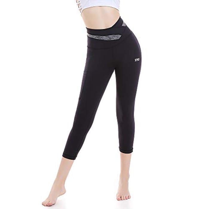 Save 70%- TFO Women's Yoga Leggings High Waist 3/4 Trousers