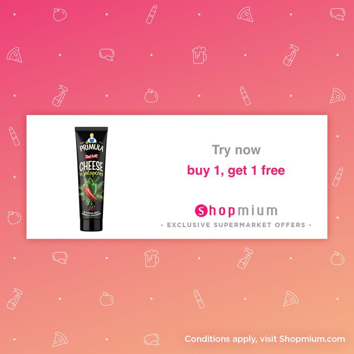 Primula Cheese Tubes Buy One Get One Free