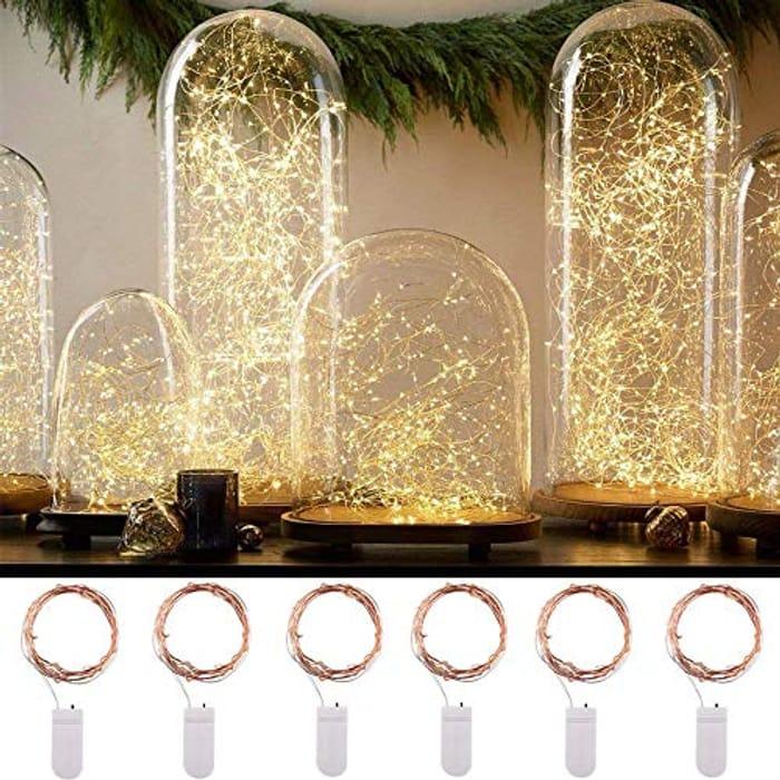 6pcs Fairy Bottle Lights AGM 2M 20 Led String Light Indoor Outdoor